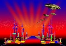6 alien city Απεικόνιση αποθεμάτων