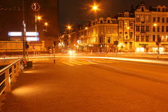 6 Amsterdam bij bijna 19:00 Royalty-vrije Stock Foto's