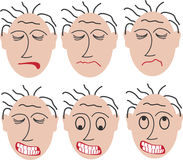 6 angry faces. 6 angry and frightened faces. This file is also available as EPS-file vector illustration