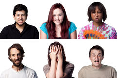 6 Angry peope Stock Photo