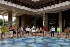 6 anti apec honolulu занимает протест Стоковая Фотография
