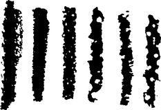 6 artistic grunge brushes. Set of 6 artistic grunge brush strokes ready to grunge things up vector illustration