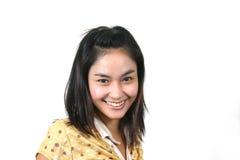 6 asiatiska flickabarn Arkivbild