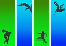 6 atléticos e ginásticos Ilustração Royalty Free