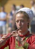 6 august izborskmusiker unidentified russia Royaltyfri Bild
