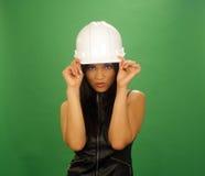 6 azjatykci piękny budowy kobiety pracownik Fotografia Stock