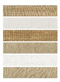 6 Banners natural fabric Stock Images
