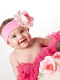 6 behandla som ett barn flickamånad royaltyfri foto