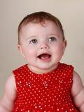 6 behandla som ett barn flickamånader Royaltyfri Fotografi