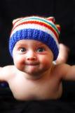 6 behandla som ett barn gulligt le för månadportrate Royaltyfria Bilder