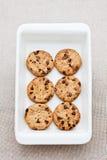 6 biscotti di recente cotti del cioccolato Immagine Stock Libera da Diritti