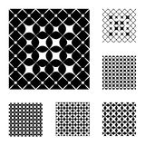 6 Black and White Patterns Royalty Free Stock Photo