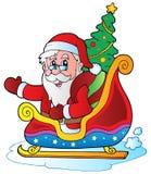 6 bożych narodzeń Claus Santa Zdjęcia Royalty Free