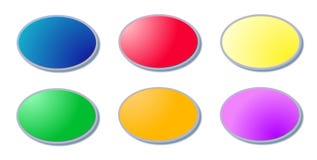 6 boutons Photo stock