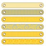 6 boutons de drapeau différents Image stock