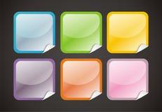6 boutons lustrés de Web Image stock