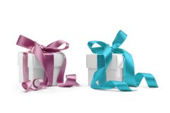 6 boxes presents Arkivbild
