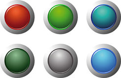 6 buttons Stock Photo