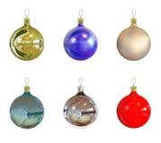 6 Christmas balls Royalty Free Stock Photography