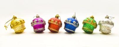 6 christmas toys. Christmas toys On the white Stock Photos