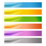 6 colorful Web banners Royalty Free Stock Photos