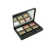 6 colors eye shadow kit Stock Photo