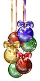 6 de ballen van Kerstmis vector illustratie