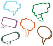 6 different dialog balloon Stock Photography