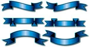 6 diseños de la bandera del vector foto de archivo