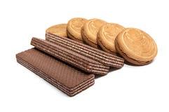 6 disques de biscuit Photos libres de droits