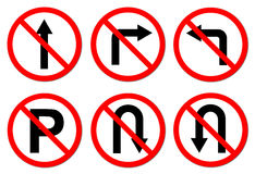 6 do not do on red circle traffic sign Stock Image