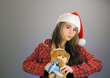6 dziewczyn pomagier s Santa nastoletni Obrazy Stock
