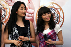 6 dziewczyn Singapore cud Fotografia Royalty Free