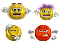 6 emoticons τέσσερα Στοκ φωτογραφία με δικαίωμα ελεύθερης χρήσης