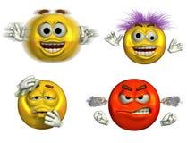 6 emoticons fyra Royaltyfri Fotografi