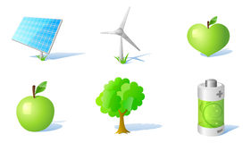 6 energy and ecology icons Stock Image