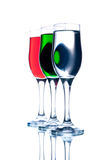 6 exponeringsglas thee Arkivbild