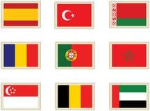 6 flags штемпеля Стоковые Фотографии RF