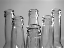 6 flessen stock foto