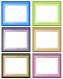 6 frames. Six frames in six colors Royalty Free Illustration