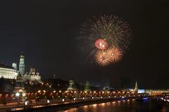 6 fyrverkeri kremlin nära Royaltyfri Fotografi