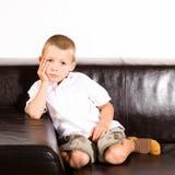 6 gammala år för pojke Royaltyfria Bilder