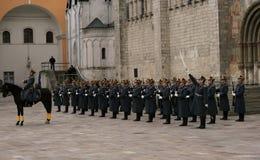 6 guard kremlin moscow Royaltyfri Bild