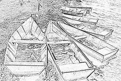 6 havssagor arkivbild