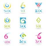 6 ikon liczba Zdjęcia Stock