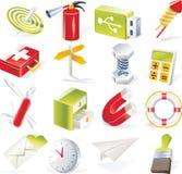 6 ikon przedmiotów część setu wektor Obraz Royalty Free