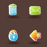 6 ikon ustawiająca wektorowa sieć Obrazy Royalty Free
