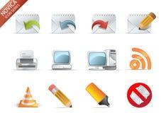 6 ikony novica serii sieci Obraz Stock
