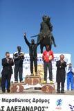 6. Internationales Marathon Alexander der Große Lizenzfreie Stockfotos