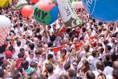 6 juillet 2012, festival de San Fermin Photos libres de droits